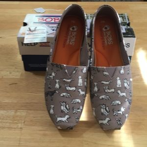 Bobs By Skechers Casual Flats (Size 8.5)